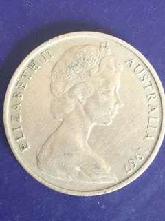 Australia 20 Cent Year 1967