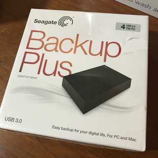 BNIB Seagate backup plus 4tb USB 3.0