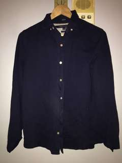 Tommy Hilfiger Classic Fit Navy Cotton Shirt