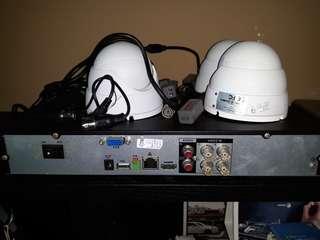 4 channel 720p DVR CCTV set for sale