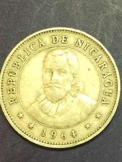 Nicaragua 25 centavos year 1964