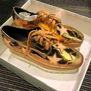 Platform Gold Shoe