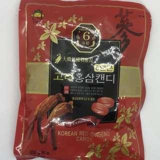 *預購* 韓國 6年根 紅蔘糖 人參糖 六年根 年節送禮 200g