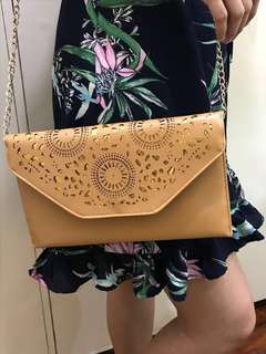 Sling Bag/Purse with Laser Cut Detail