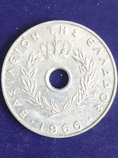 Greeks 20 Aenta year 1966, XF