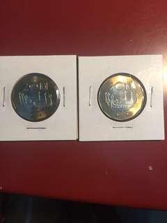 中華民國台灣$20錢幣全新 Taiwan $20 UNC