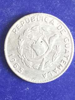 Guatemala 5 centavos year 1965, Vf