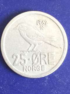 Norway 25 ore year 1962