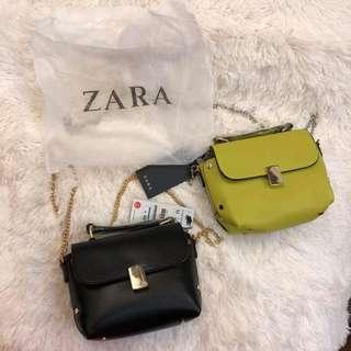 Zara Plain Chain Sling Bag