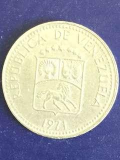 Venezuela 5 Centimos year 1971, Vf