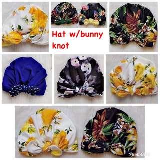 Hat w/bunny knot