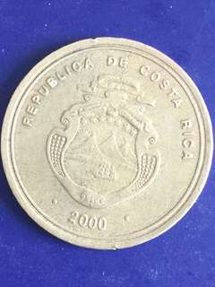 Costa Rica 100 colones year 2000, Vf