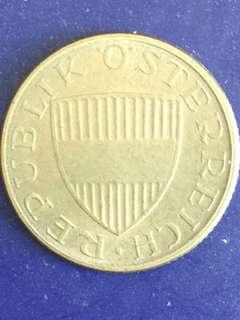 Austria 50 groschen year 1972, Vf - xf