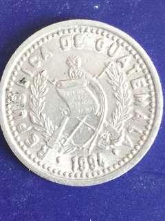 Guatemala 10 centavos year 1994, VF