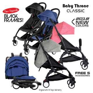 Baby Throne Stroller Classic Sakura Pink