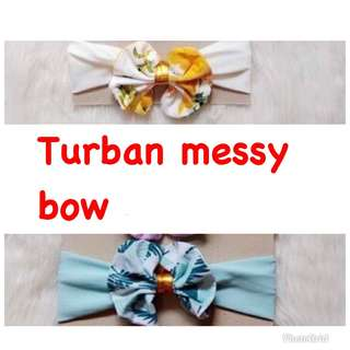 Turban messy bow