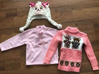 Cute Baby Sweater Set