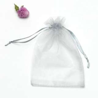Organza Drawstring Pouch/Organza Bag (Grey Colour)