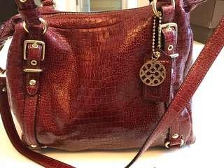 Coach crocodile leather bag