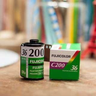 Fuji color c200 35mm Films