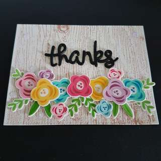 Thank You Card, fab flowers