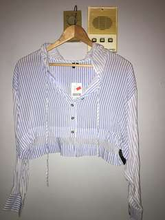 BNWT Urban Outfitters Pinstripe Crop Top