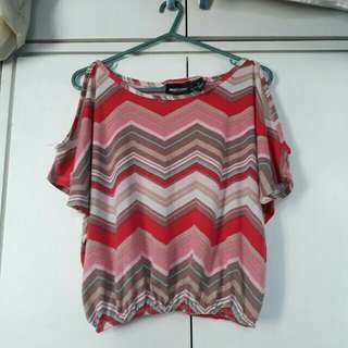 Semi crop top blouse