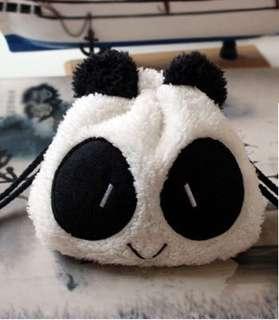 Fluffy Panda Multipurpose Pouch