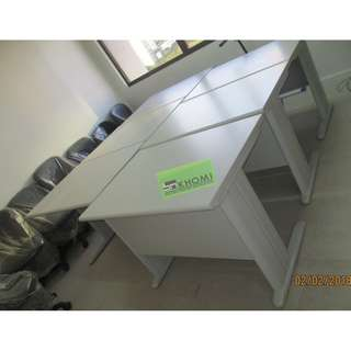 FST OFFICE TABLE 01 100X70cm LIGHT GRAY TOP & LEGS