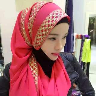 2pcs Muslim Under Scarf Modal Islamic Turban Head Cover Islam Wrap Hijab Bonnet Caps