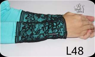 RS premium Aisyah lace handsock - L48