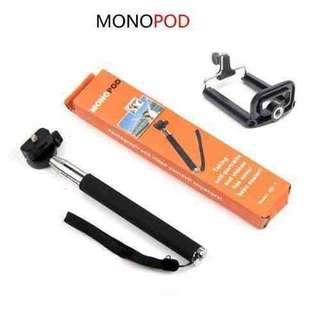 Monopod with Mobile Clip