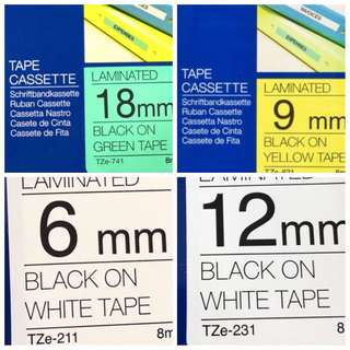 Brother cartridge tape refill label