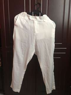 Chiffon White Pants Brandnew