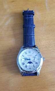 Sekonda 真皮 寶藍色 手錶