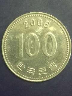 Korea 100 won Year 2006, XF-AU