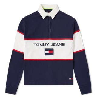 Tommy Jean 90s Blocked Rugby Shirt