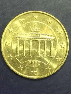 Euro 10 Cents , year 2002 , Germany 1st Issued , AU