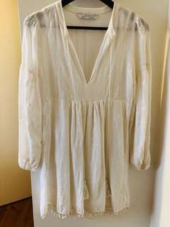 Zara white boho dress