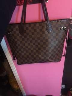 authentic Louis Vuitton Neverfull MM Damier Ebene
