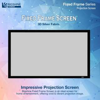 "[BIGSHINE] Cine65 3D Silver Fixed Frame Projector Screen 100"" (16:9)"