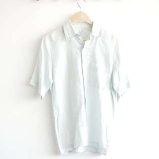 White Mint Men's Shirt Short Sleeve