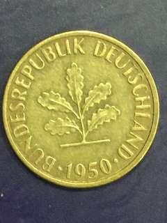 Germany 5 Pfenning year 1950, VF