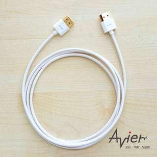 🚚 【Avier】1.4版超薄極細標準型HDMI傳輸線(A公-A公)。2米/AM420WT 白色