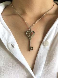 Silver Key Necklace