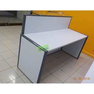 CUSTOMIZE RECEPTION TABLE GLASS COUNTER TOP--KHOMI