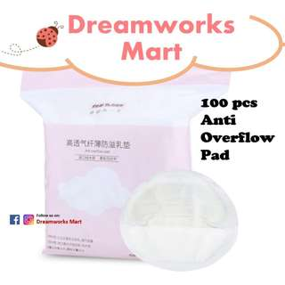 Real Bubee 100 pcs Disposable Anti Overflow Pad | Breast Nursing Pads