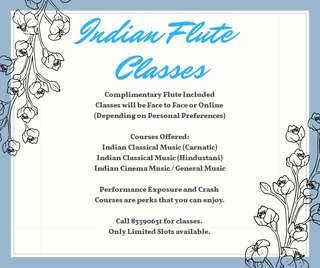 Flute Lessons (Indian Bamboo Flute)