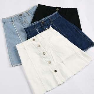 Buttondown Denim Skirts