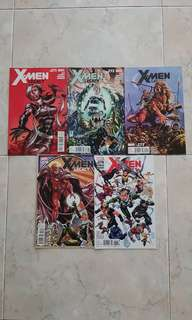 X-Men Legacy Vol 1 (Marvel Comics 5 Issues; #271 to 275, complete story line, issue #275 is the final issue for this title series)
